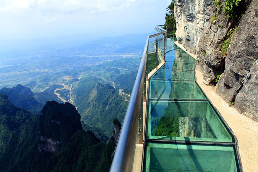 Zhangjiajie Tianmen mountain glass plank road